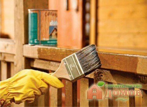 Обработка деревянного дома полезными средствами