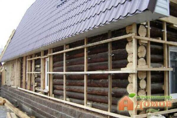 Утепление бревенчатого дома снаружи: пошаговая инструкция
