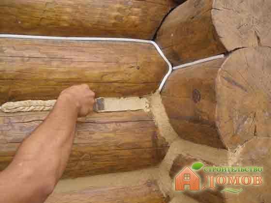 Утепление бревенчатого дома: утепление изнутри