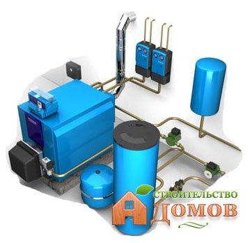 Автономное водяное отопление в одно- и двухэтажных домах