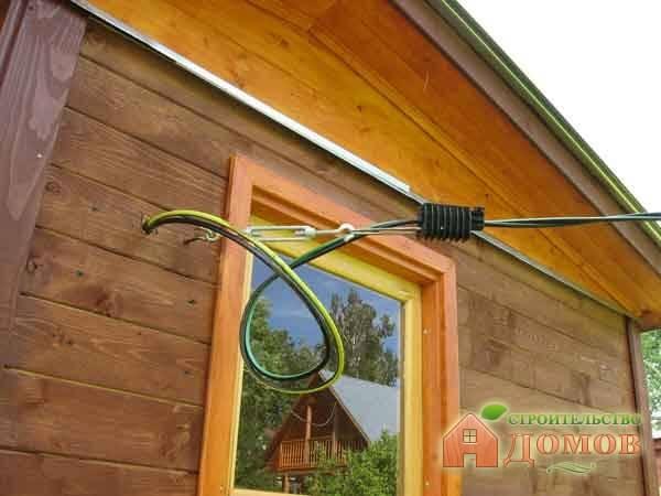 Ввод электричества в деревянный дом: основные правила
