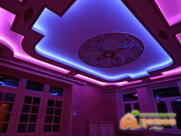 Натяжной потолок со светодиодной подсветкой. Его преимущества, способы монтажа