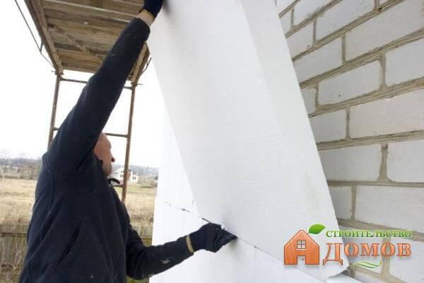 Утепление гаража пенопластом снаружи: пошаговый процесс