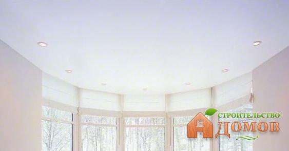Белый матовый натяжной потолок. Его роль в интерьере