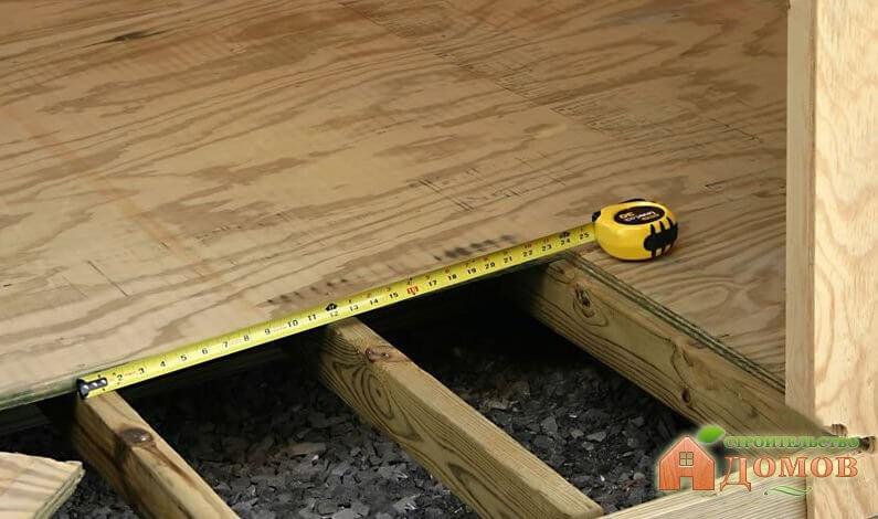 Укладка деревянного пола на лаги. Пошаговый процесс
