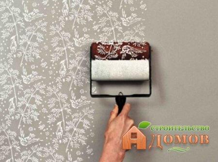 Покраска стен валиком с рисунком. Выбор валика, техника нанесения рисунка