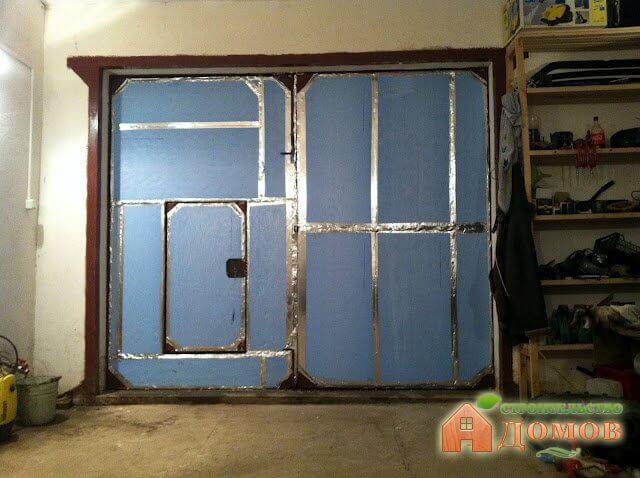Утеплить гаражные ворота своими руками