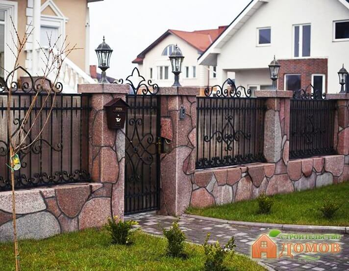 Как сделать каменный забор?
