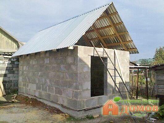Строительство бани из пеноблоков. Пошаговый процесс