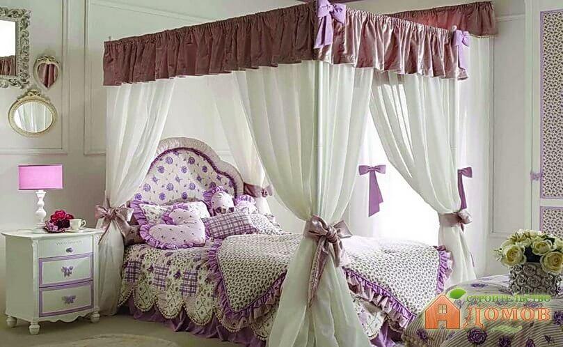 Кровать для девочки с балдахином – его разновидности