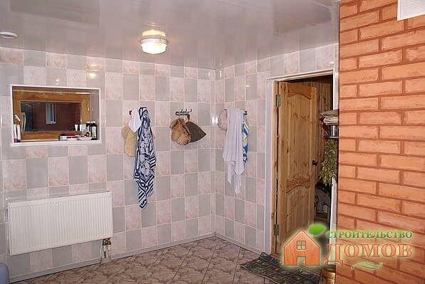 Отделка моечной в бане: стены и пол