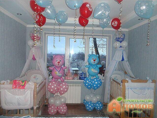 Украшение квартиры на рождение ребенка