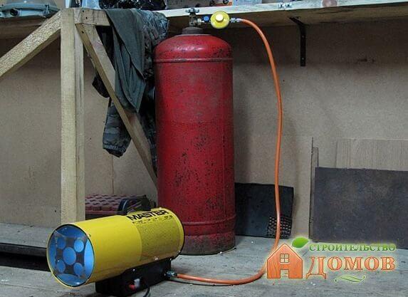 Отопление гаража газом. Варианты газовых обогревателей
