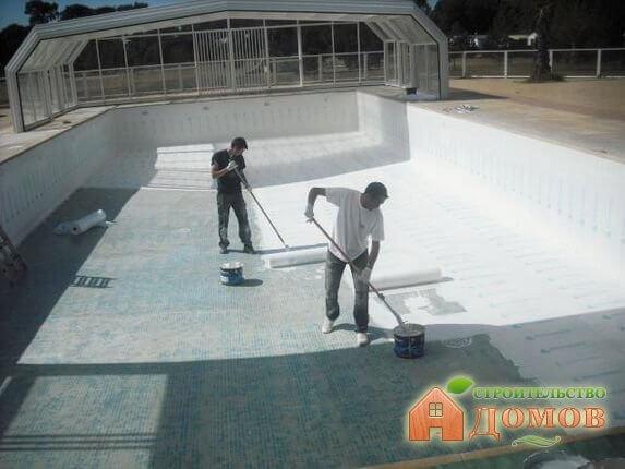 Гидроизоляция бетонных бассейнов: материалы, технологии