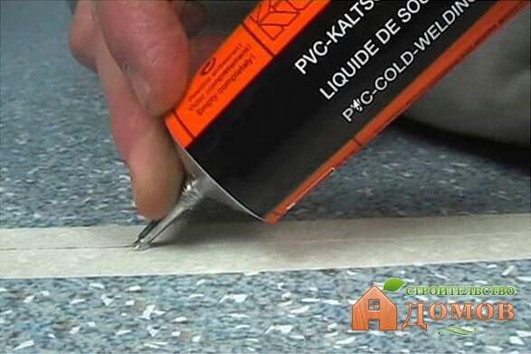 Клей для сварки линолеума: его маркировка, способ нанесения