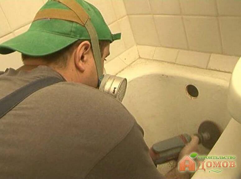 Как восстановить эмаль в ванне. Часть 1 – подготовка поверхности