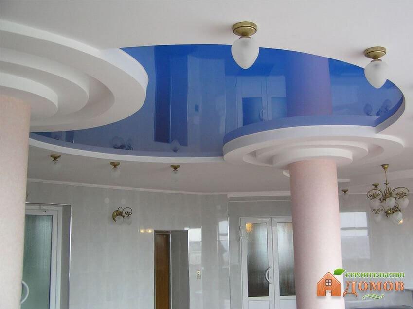 Комбинированные потолки: гипсокартон и натяжной