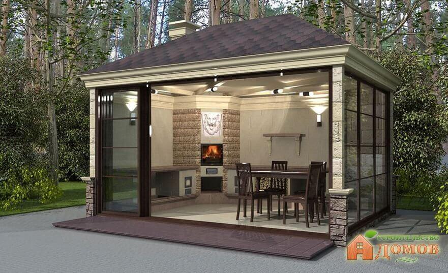 Летняя кухня с беседкой. Особенности её конструкции, пошаговый процесс строительства