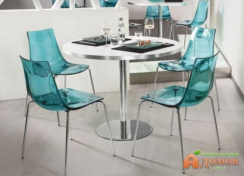 Хромированные стулья для кухни. Их преимущества, дизайн