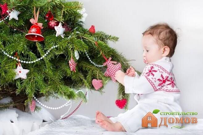 Украшение детской к новому году