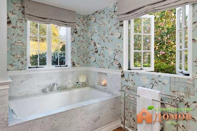 Моющиеся обои для ванной: выбор, преимущества