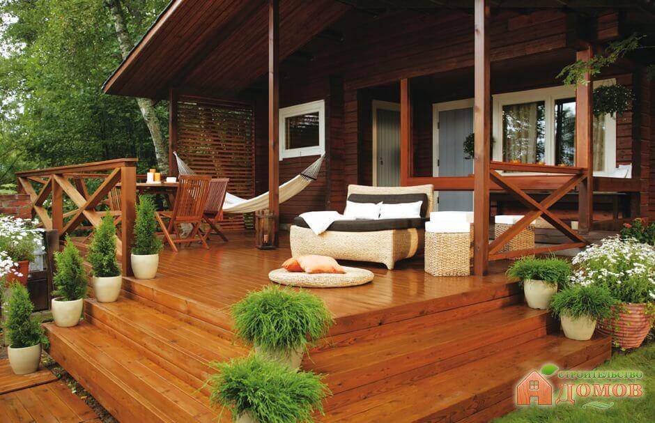 Терраса деревянного дома: конструкция, ограждения, обустройство пола