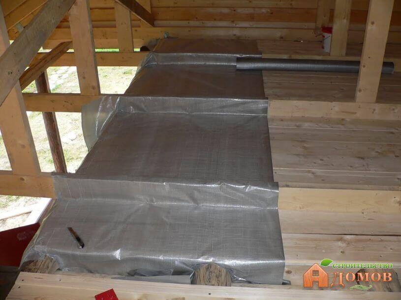 Пароизоляция потолка бани: пошаговая инструкция
