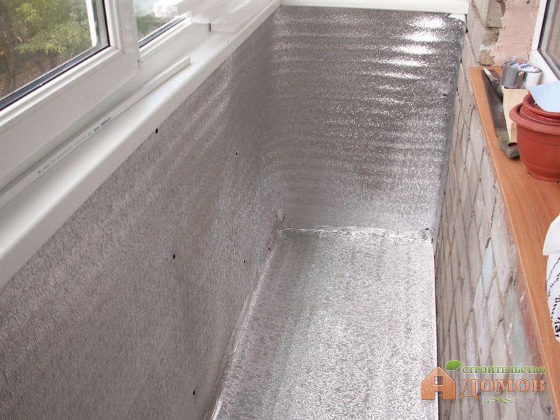 Как утеплить балкон изнутри
