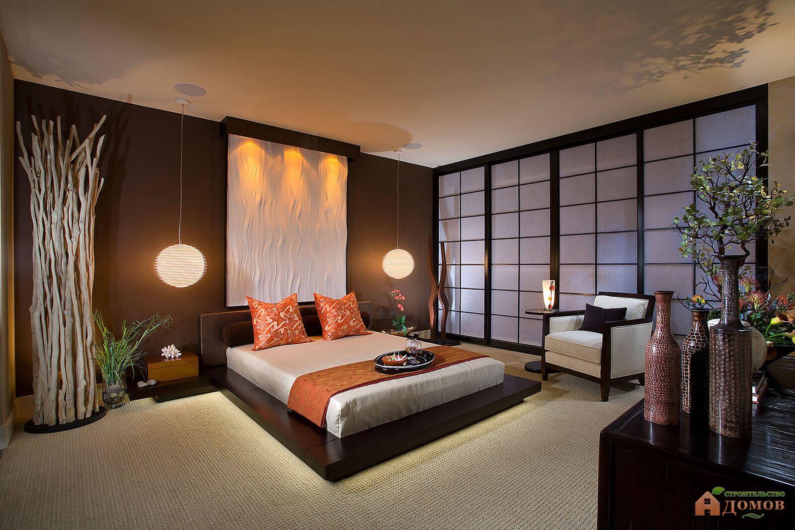 Дизайн спальни в японском стиле: фото и особенности японского интерьера