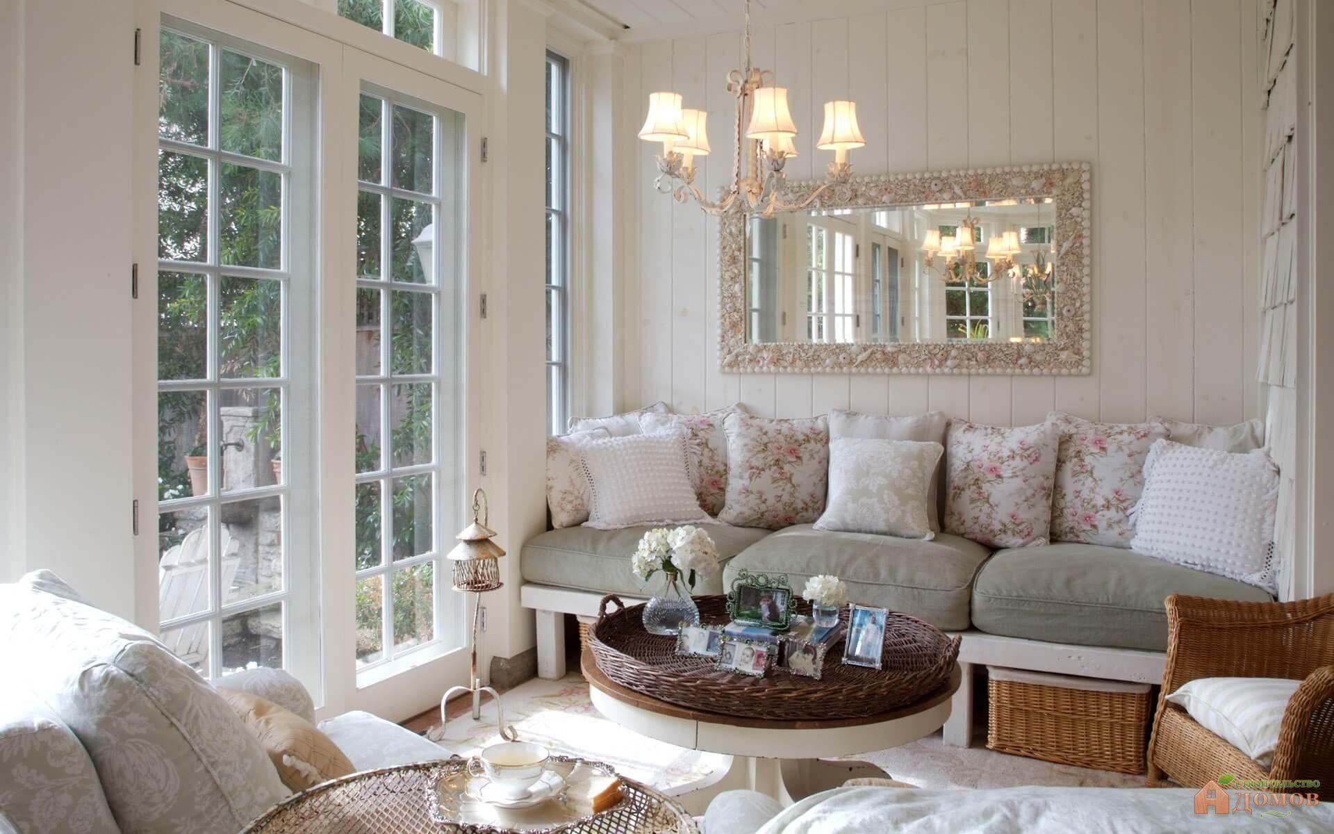 Стиль прованс в интерьере гостиной: фото и особенности (текстиль, мебель, освещение)