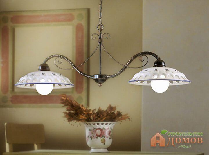 Люстры для кухни в интерьере в стиле классика, прованс, модерн