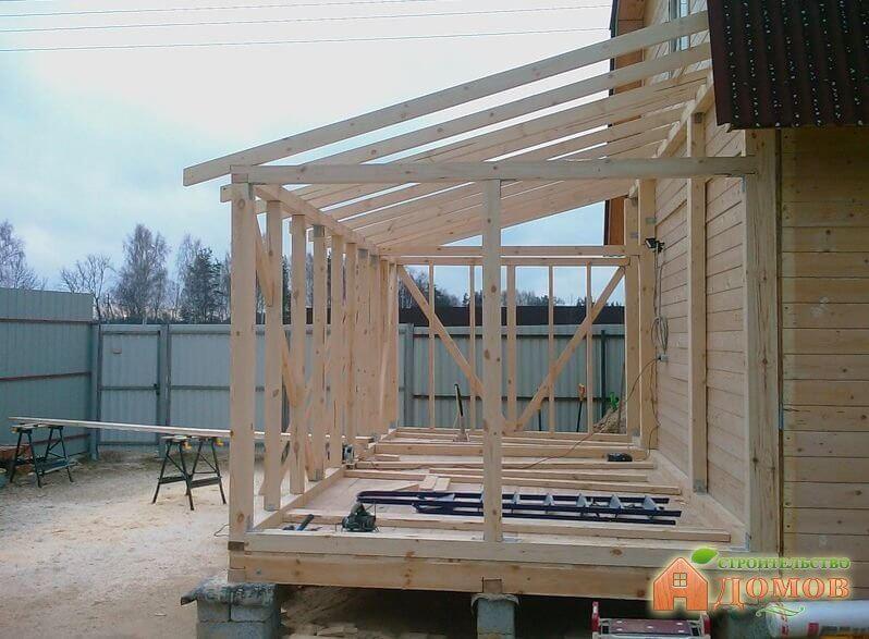Пристроить веранду к деревянному дому своими руками фото