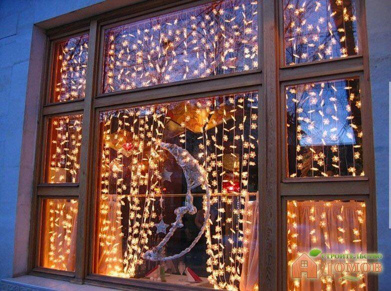 Украшения для окна на новый год