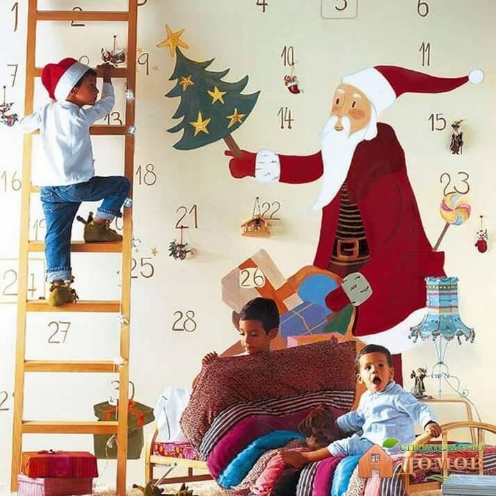 как украсить детскую комнату своими руками на новый год #3