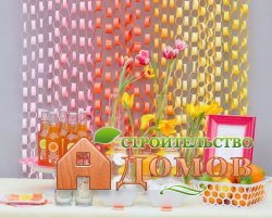 Украшение дома на день рождения сладостями и бумажным декором