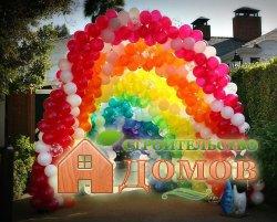Украшение дома на день рождения воздушными шарами